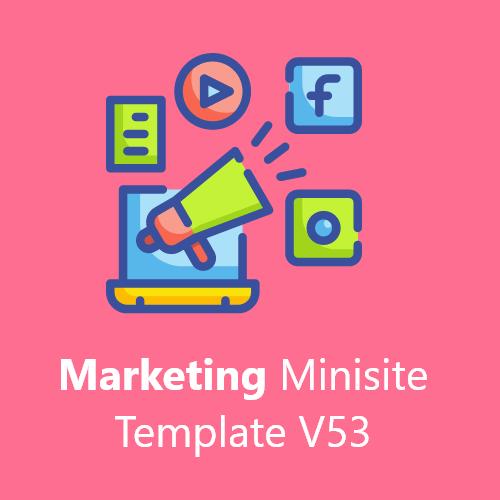 Marketing Minisite Template V53